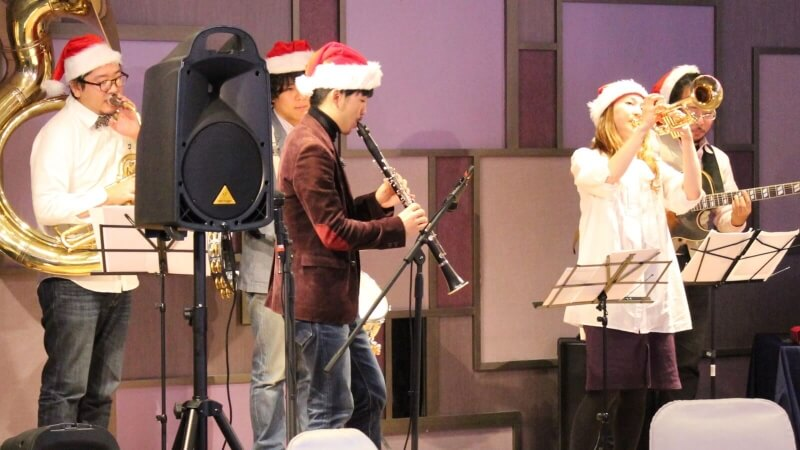 クリスマス会 バンド生演奏 大阪マリオット都ホテル3
