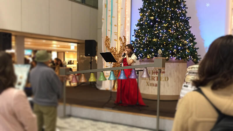 阪急三番街のクリスマスイベントにて各種ミュージシャンを手配2