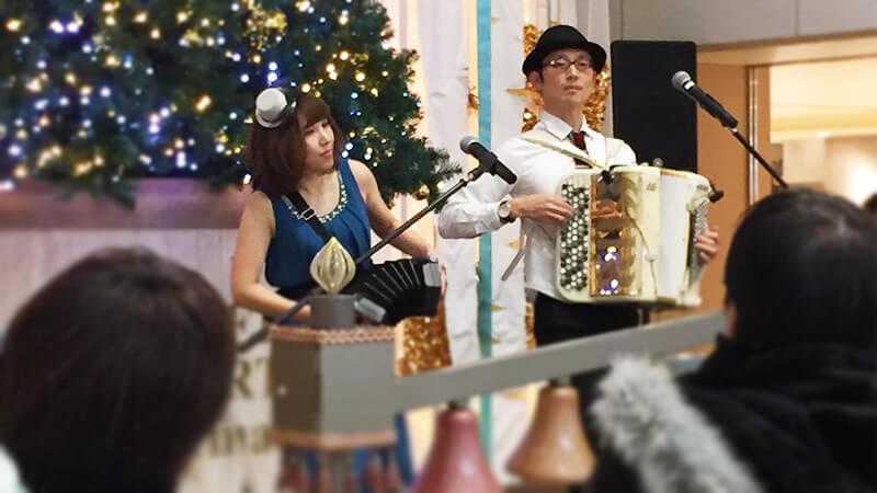 阪急三番街のクリスマスイベントにて各種ミュージシャンを手配4