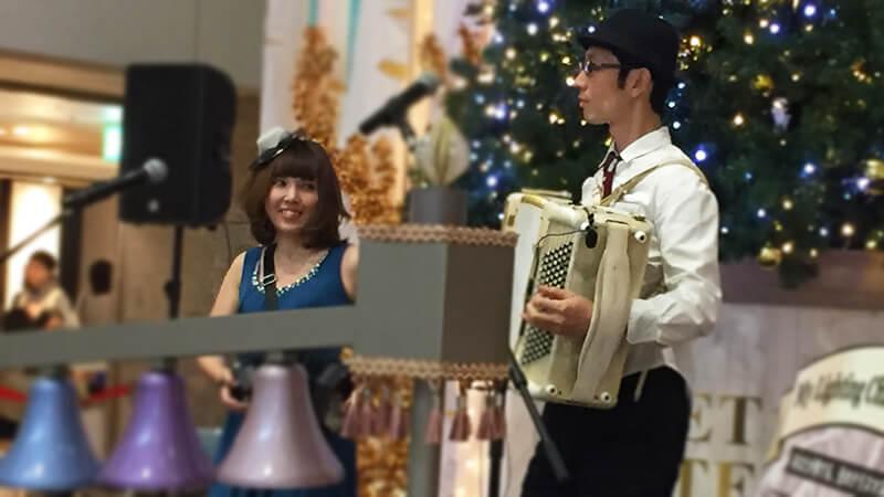 阪急三番街のクリスマスイベントにて各種ミュージシャンを手配5