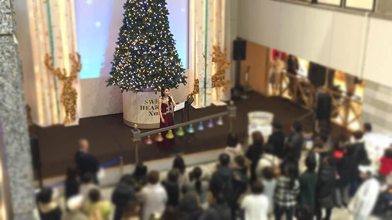 阪急三番街のクリスマスイベントにて各種ミュージシャンを手配7