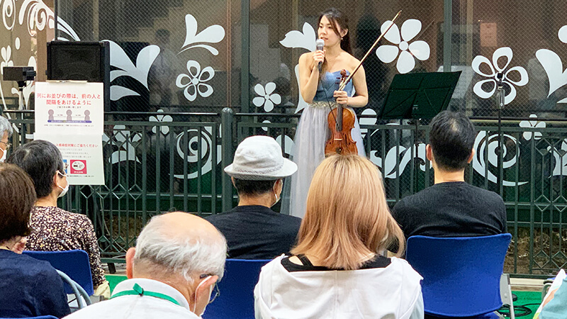 加茂夏来 バイオリン演奏
